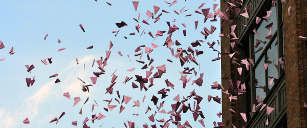 Social media campaign ideas blog post image header of flying paper airplanes