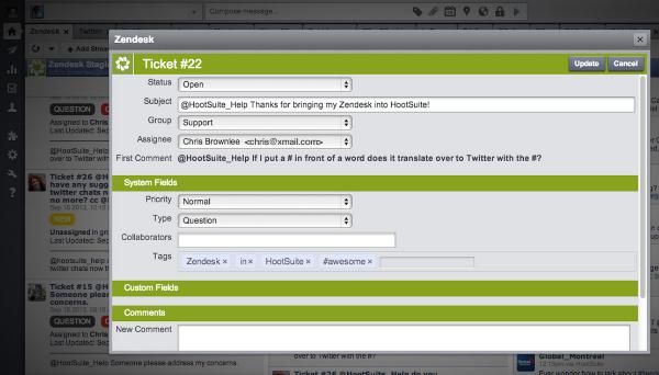 zendesk hootsuite Social Media-Tools