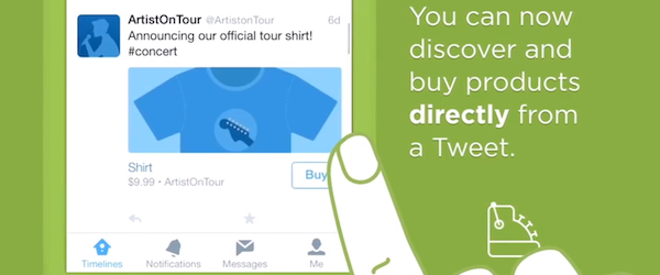 "Screenshot from Twitter's video  ""A new way for you to make purchases on Twitter"""