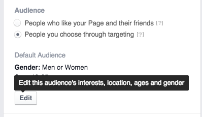 Facebook Boost Posts - Select Your Target Audience 1