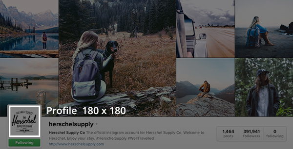 Suggested Instagram image dimensions