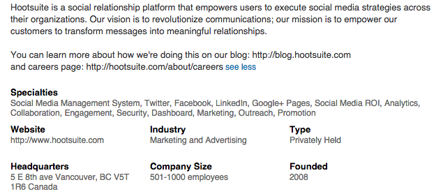 Social Media Profiles - LinkedIn Company