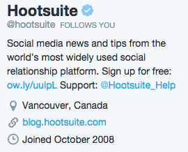 Social Media Profiles - Twitter Bio