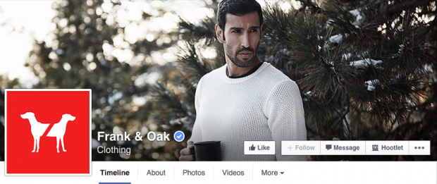 Frank and Oak Facebook cover photo