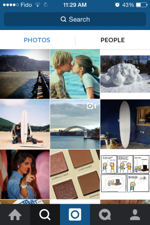 Get likes and followers on Instagram - Explore tab