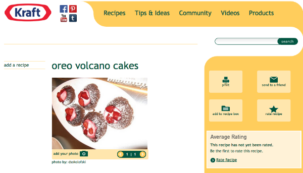 Kraft user-generated content ideas - recipes