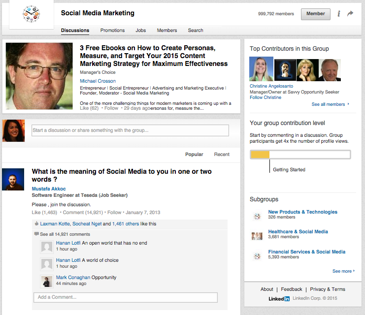 LinkedIn Groups help create buyer personas
