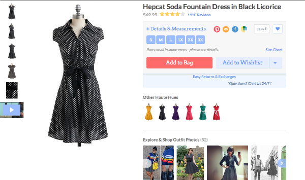Modcloth user-generated content - review
