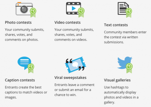 A few examples of social media campaigns available within Hootsuite Campaigns.