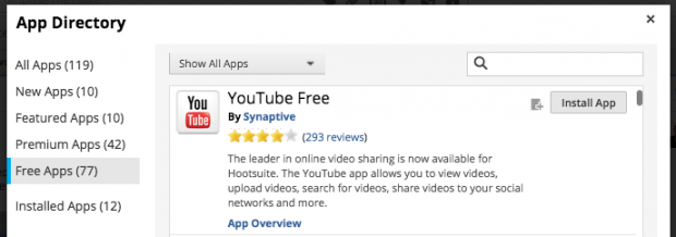Hootsuite App Directory - YouTube Free App