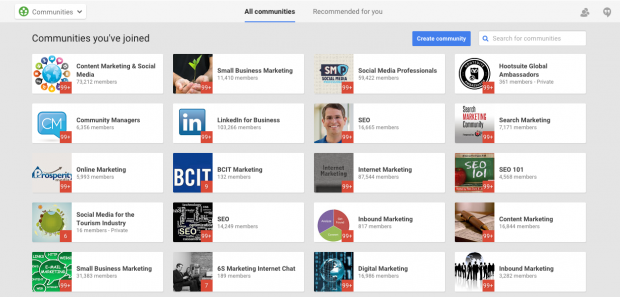 google+ communities - how to promote your blog on social media