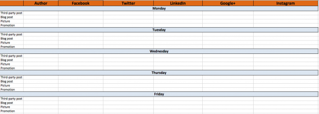 using a social media content calendar can help you with your content marketing efforts which is a marketing idea for small businesses