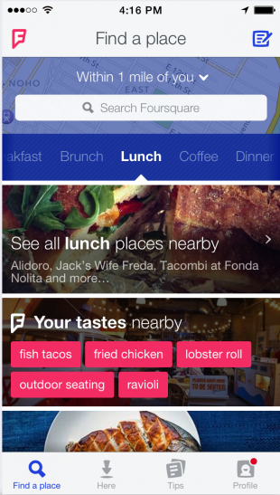 Foursquare business reviews