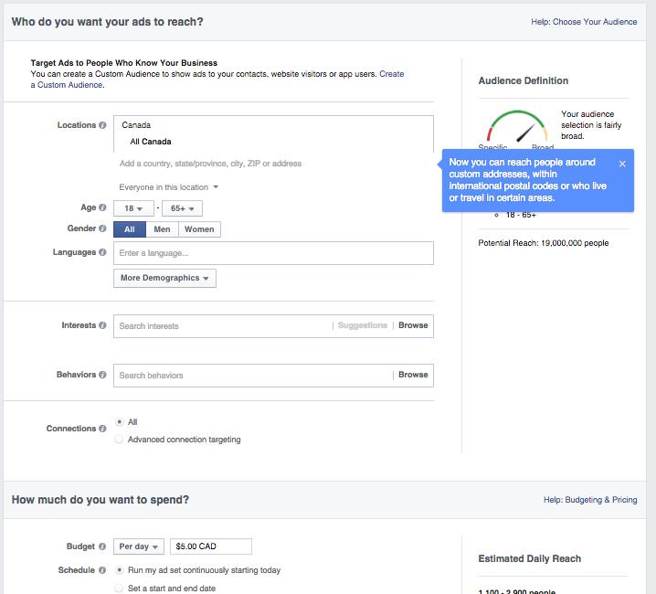 Presupuesto y crear anuncios de Facebook en sólo 7 pasos.