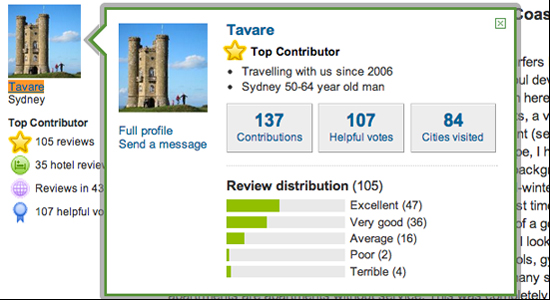 TripAdvisor business reviews