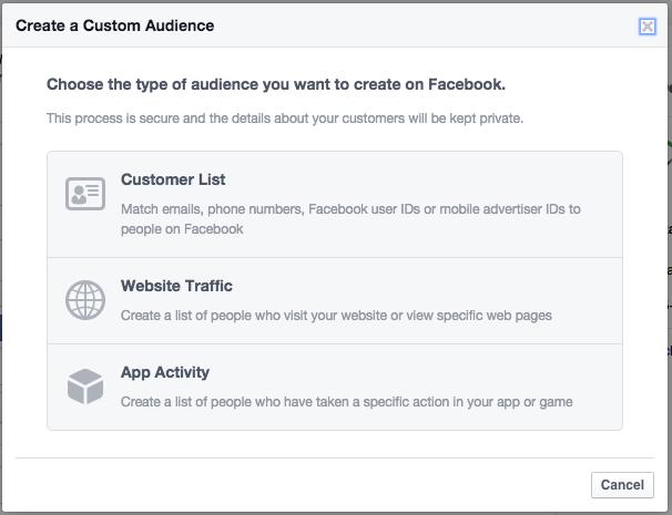 Audiencias personalizadas al crear anuncios en Facebook