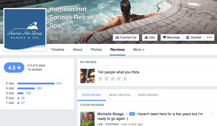 Facebook recommendations business reviews