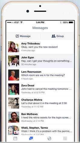 facebook at work app store screenshot iphone