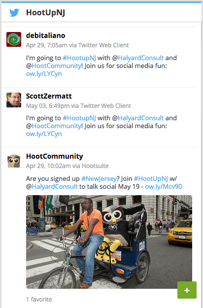 social media for event marketing HootUp hashtag