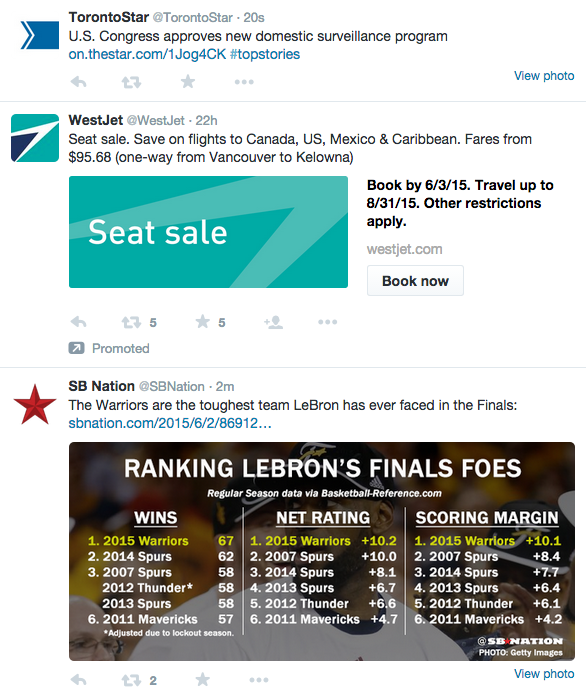 A look at a typical Promoted Tweet within the Twitter stream