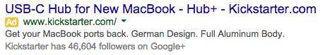 USB Mac Hub Search Ad