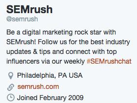 SEMrush Twitter social media bio.jpg