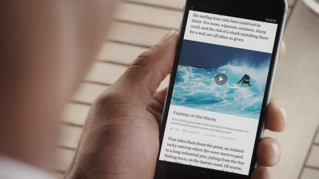 An example of Facebook Instant Articles