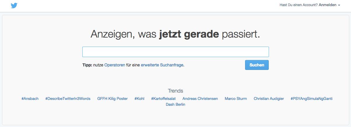 Twitter suche deutsch