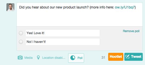 Gauge your Reach Twitter Poll