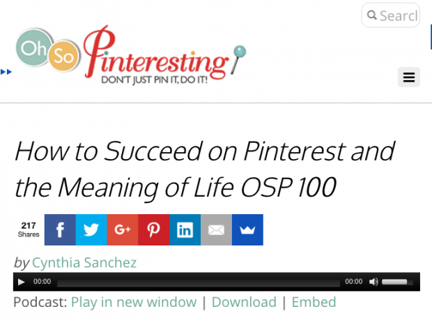 Ohsopinteresting - How to Succeed on Pinterest and the Meaning of Life OSP 100