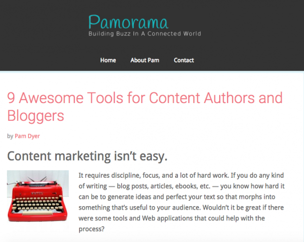 Pamorama - 9 Awesome Tools for Content Authors and Bloggers