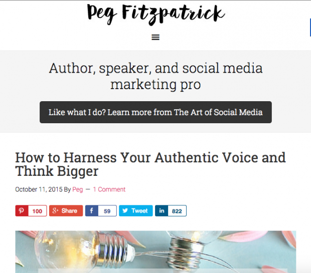 Peg Fitzpatrick - How to Harness Your Authentic Voice and Think Bigger
