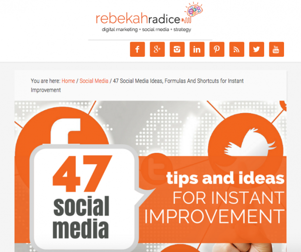 Rebekah Radice - 47 Social Media Tips and Ideas for Instant Improvement