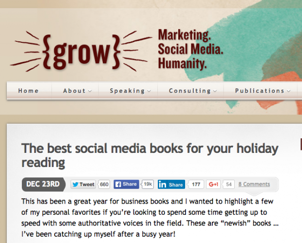 Grow - The best social media books for your holiday reading