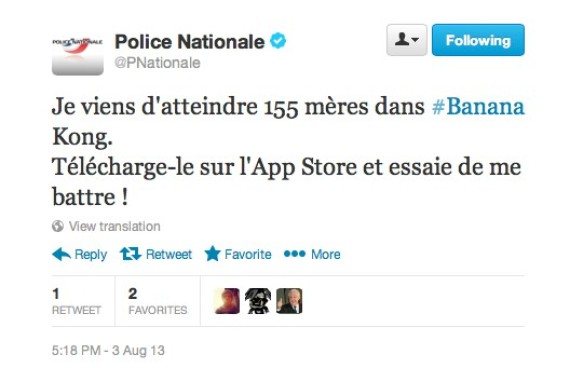 police tweet