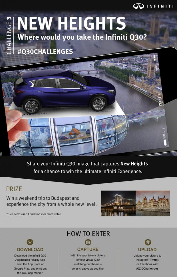 infiniti user content for q30 challenges campaign