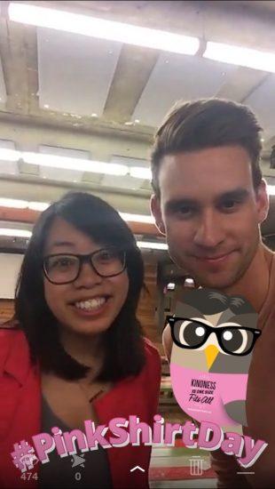 #PinkShirtDay Snapchat Video