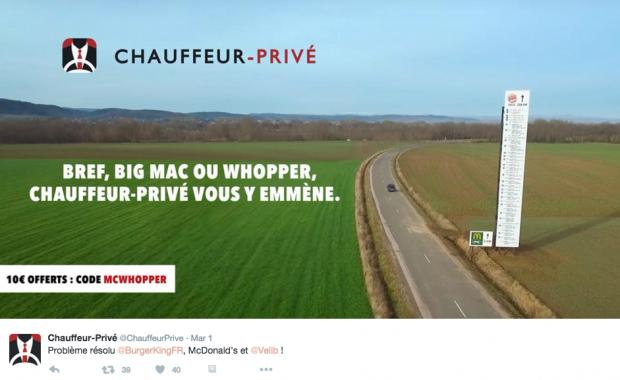 publicité comparative chauffeur privé