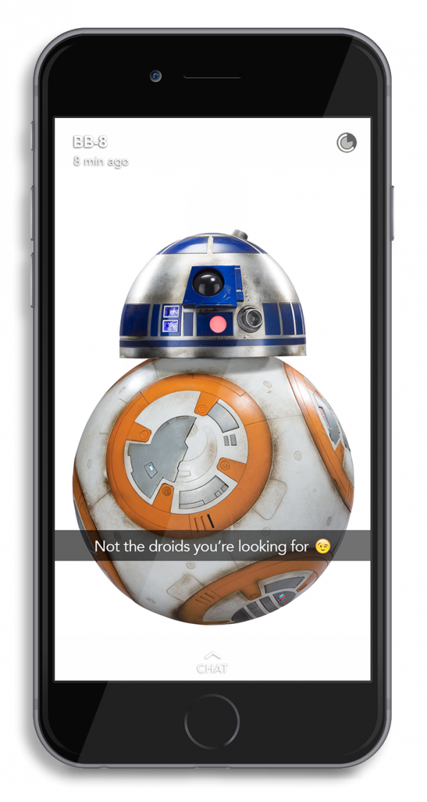 What it Would Look Like if BB-8 Used Snapchat | Hootsuite Blog