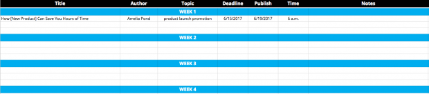 Social Media Templates To Save You Hours Of Work - Social media content schedule template