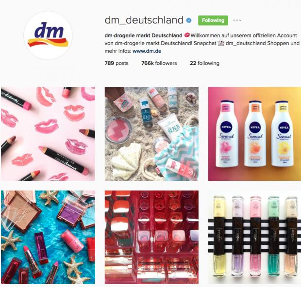 deutsche Unternehmen auf Instagram - DM