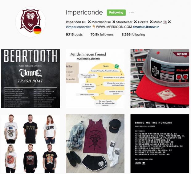 deutsche Unternehmen auf Instagram - Impericon