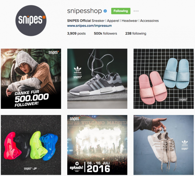 deutsche Unternehmen Instagram - Snipes