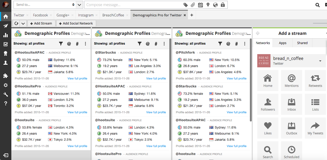 demographics hootsuite