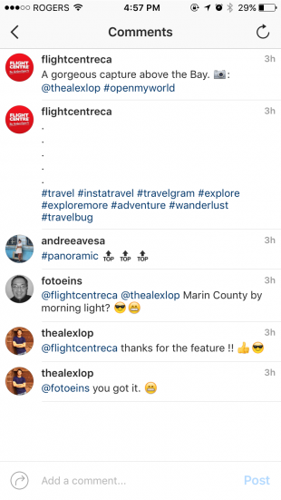 Instagram hashtags hidden in captions