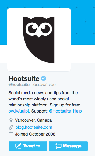 Twitter Bio Ideas to Increase Your Follower Count | Hootsuite Blog