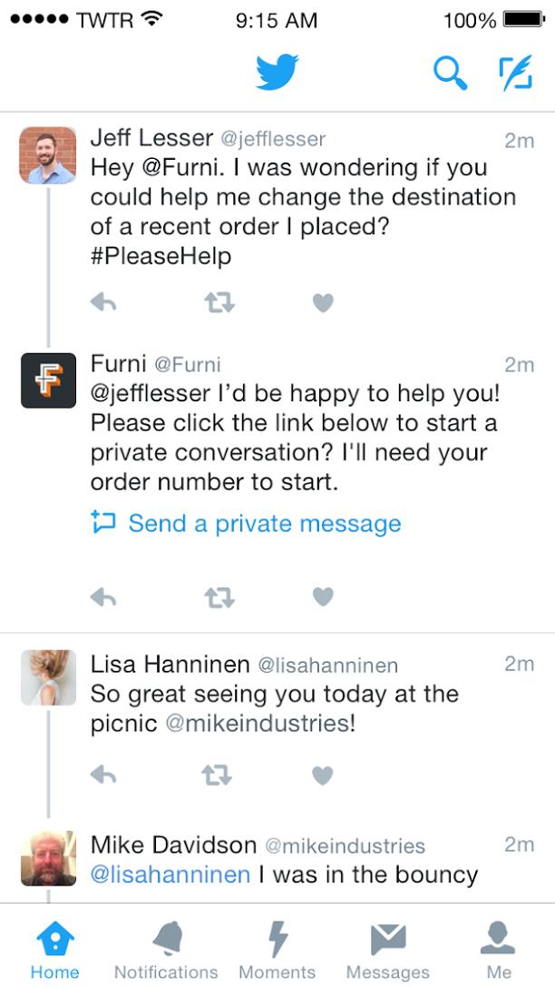 Kundenservice auf Twitter
