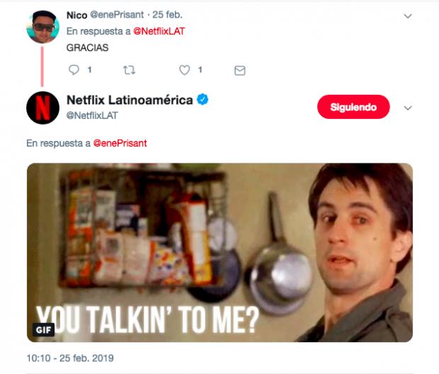 Campaña social selling Netflix Latinoamérica