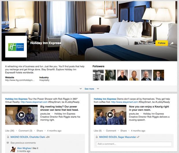 LinkedIn Holiday Inn