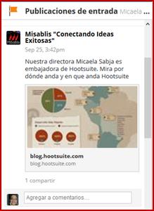 posts en Facebook o tuits en Twitter, Hootsuite te permite llegar a más clientes con tus redes sociales